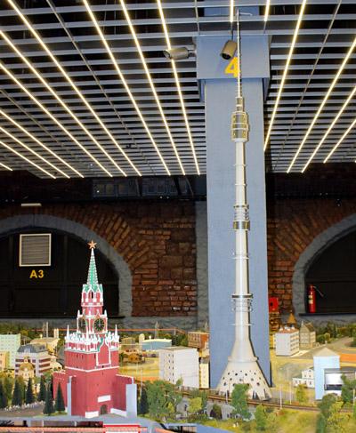 макет останкинской башни