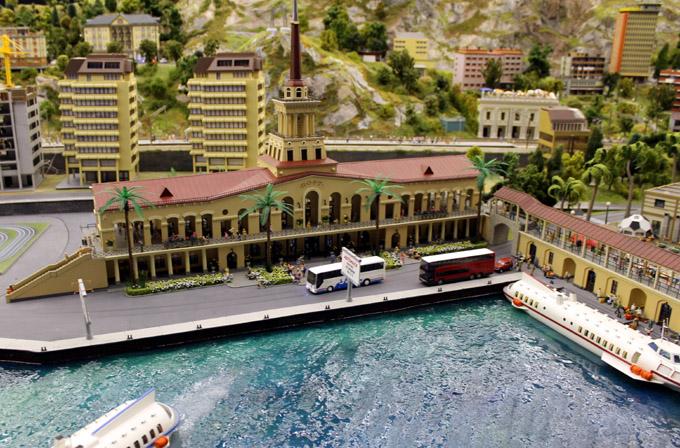 макет речной порт
