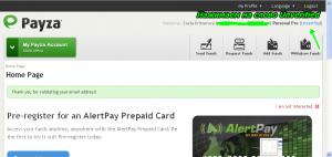 верификация счёта в платёжной системе Payza