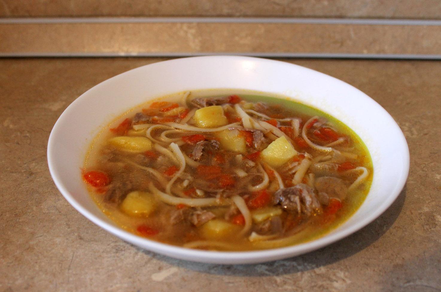 суп с болгарским перцем и говядиной