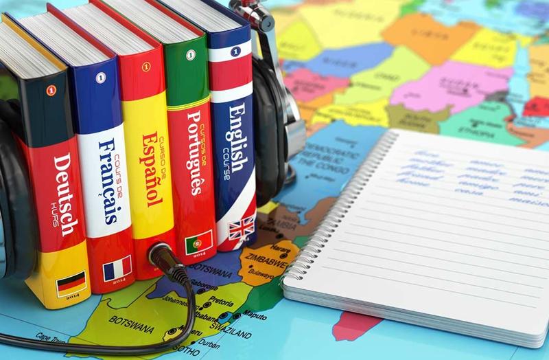 словари и тетрадь