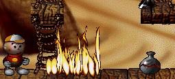 мальчик около пламени