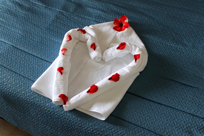 сердечко из полотенец