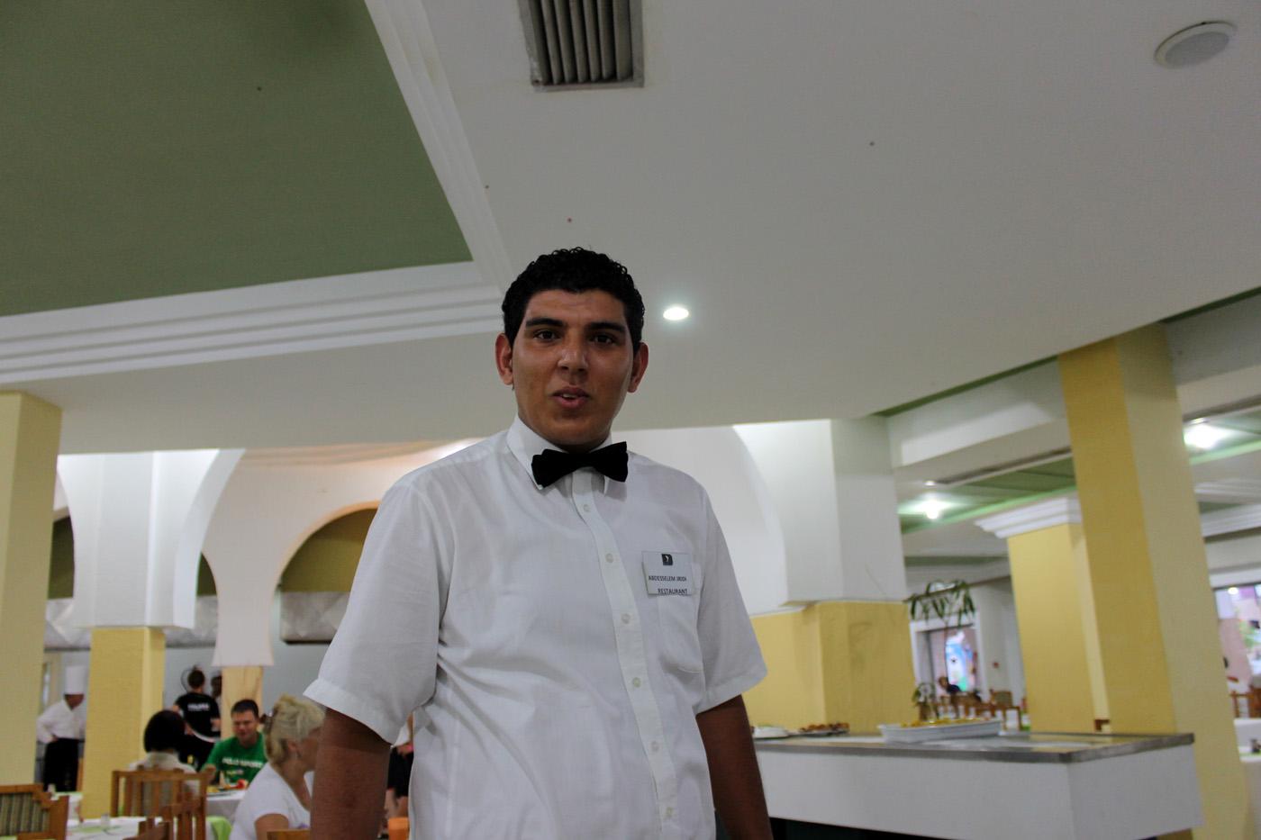 официант в отеле