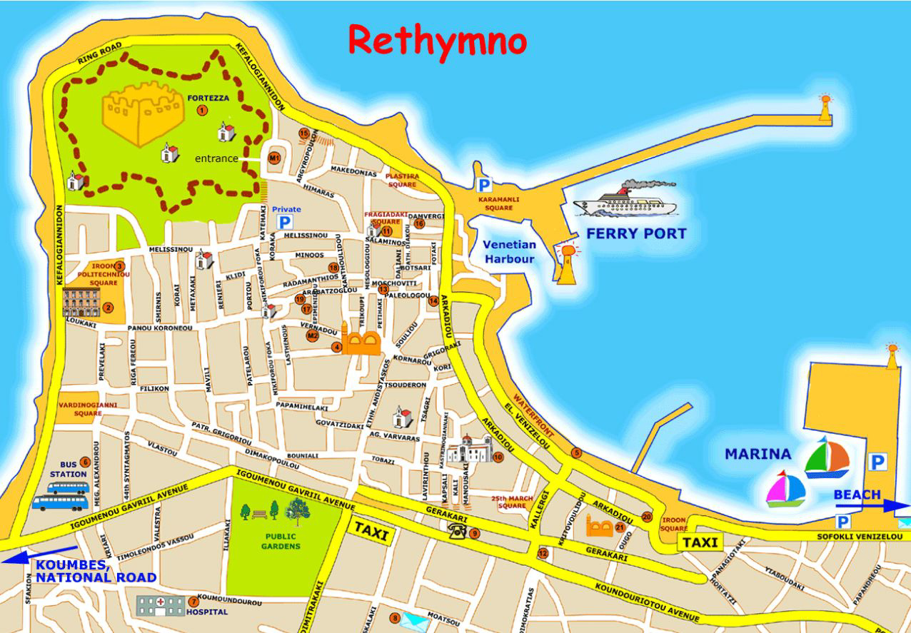 карта ретимно