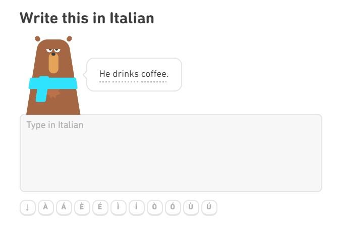 дуолинго итальянский