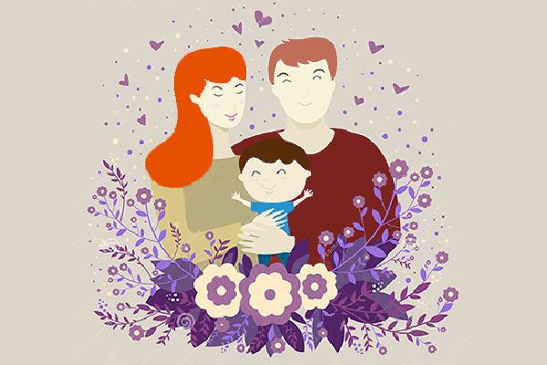 мама папа и ребёнок