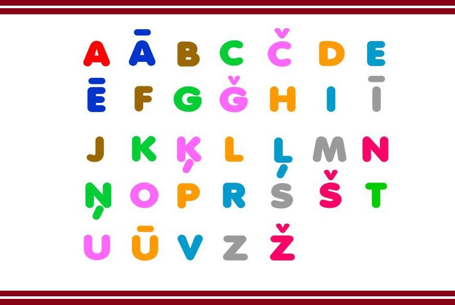 латышский алфавит