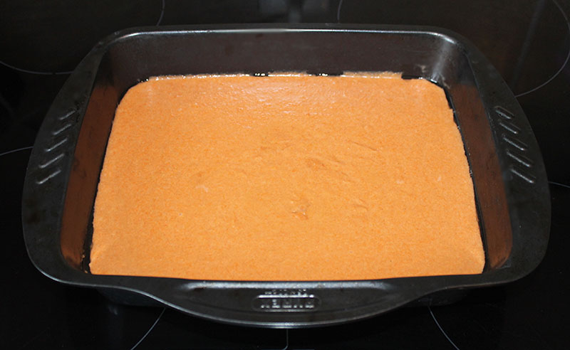 пудинг из моркови в противне