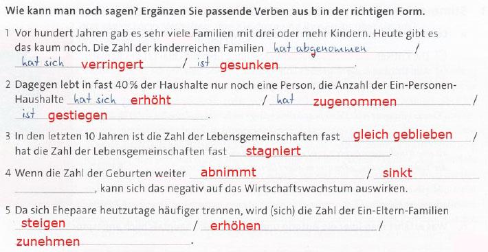 упражнение немецкий