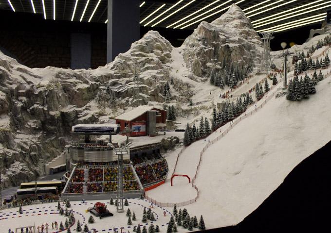 макет горнолыжный курорт