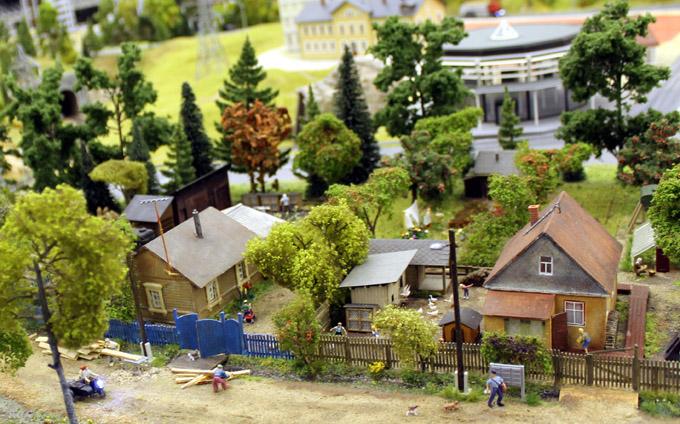 макет деревня