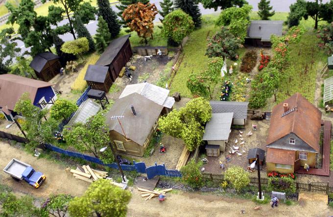 макет село