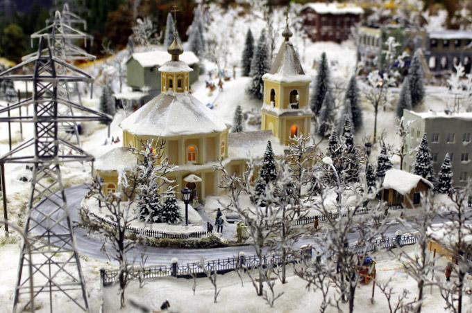 макет церкви