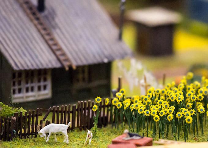 макеты деревенских домов