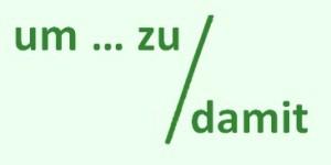 Um zu и damit в немецком языке