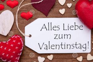 день всех влюблённых поздравление на немецком