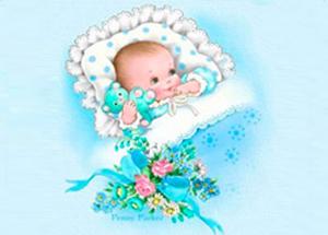 новорожденный сын